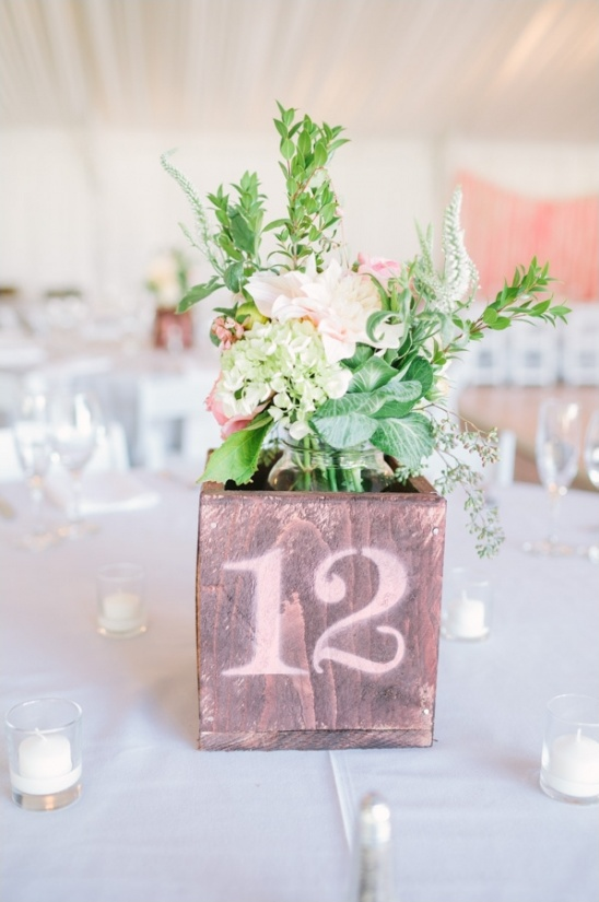 spray painted table numbers
