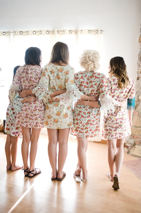 cute floral and lace getting ready robes
