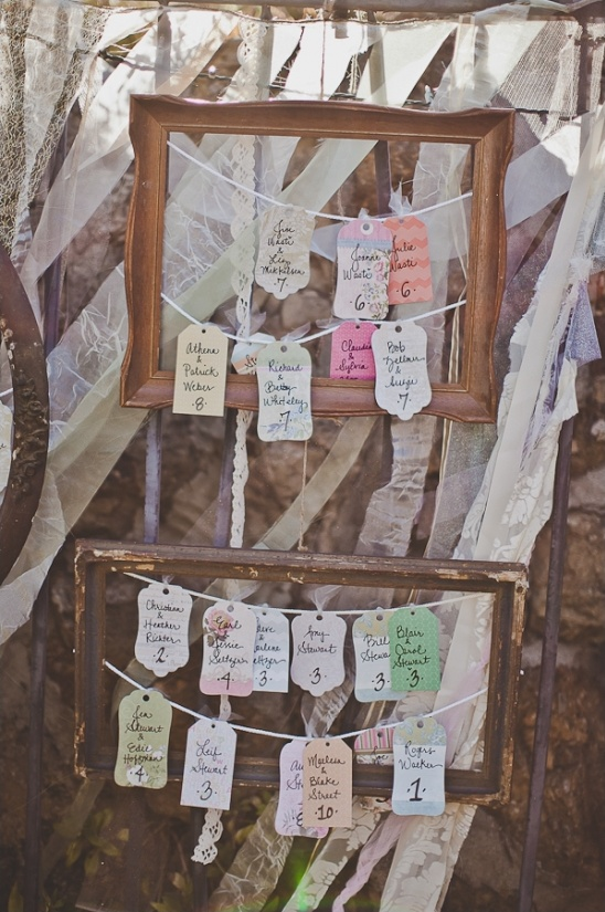 unique escort card tag ideas