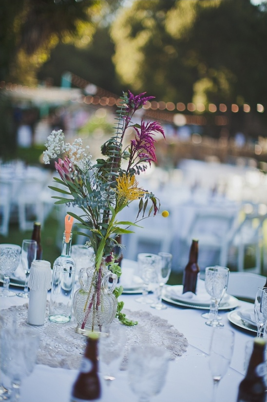 wildflower centerpiece ideas