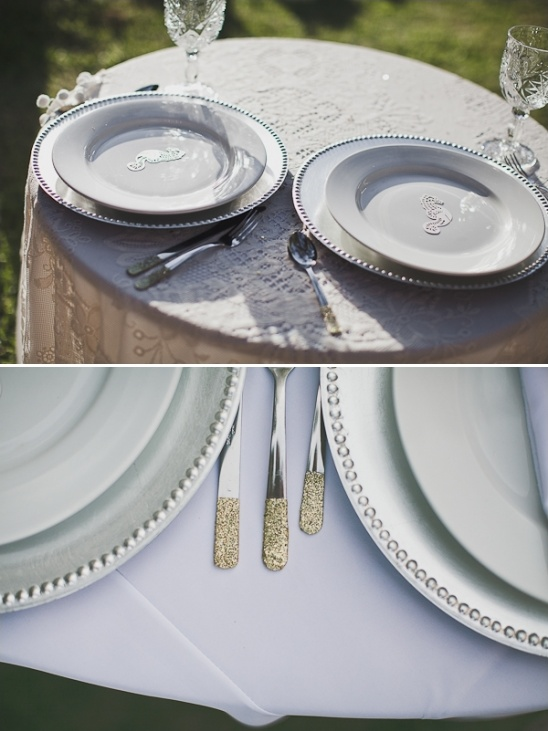 gold dipped silverware