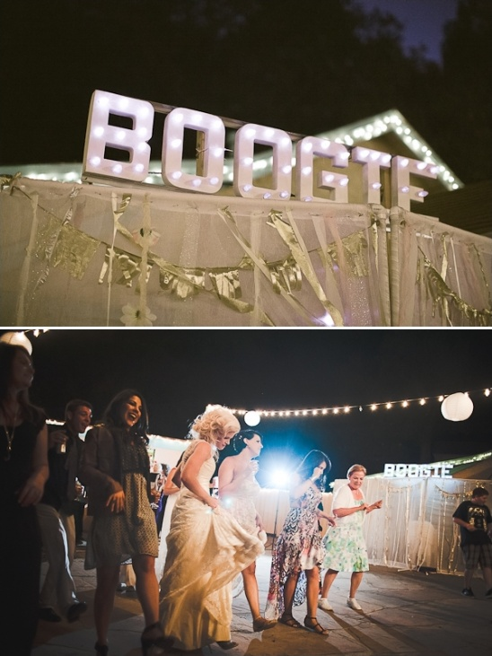 lighted boogie sign