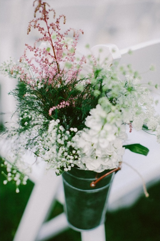 pink and white floral aisle decor