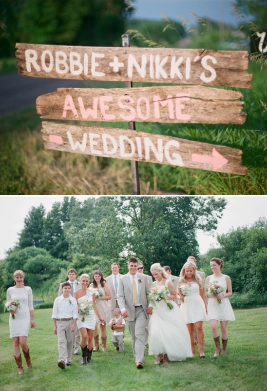 awesome weathered wedding sign
