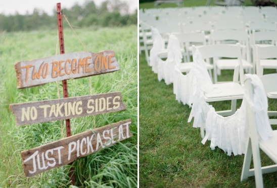 take a seat wedding sign