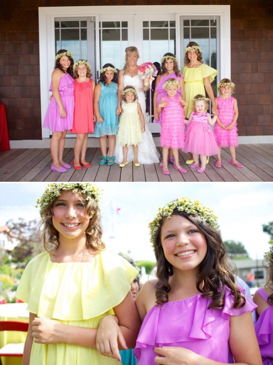 colorful flower girls