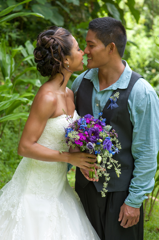 Blue & Purple Garden Valley Wedding