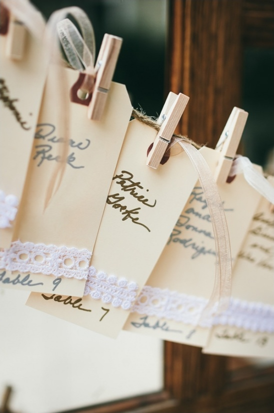 handwritten escort card station
