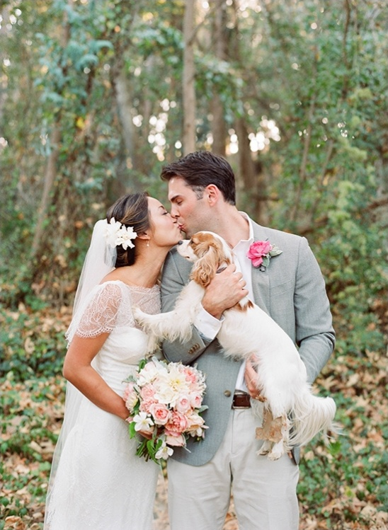 wedding portrait with dog