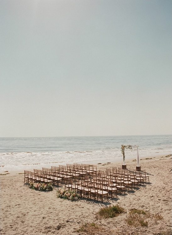 set up a beach wedding
