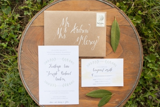 leaf wedding invite