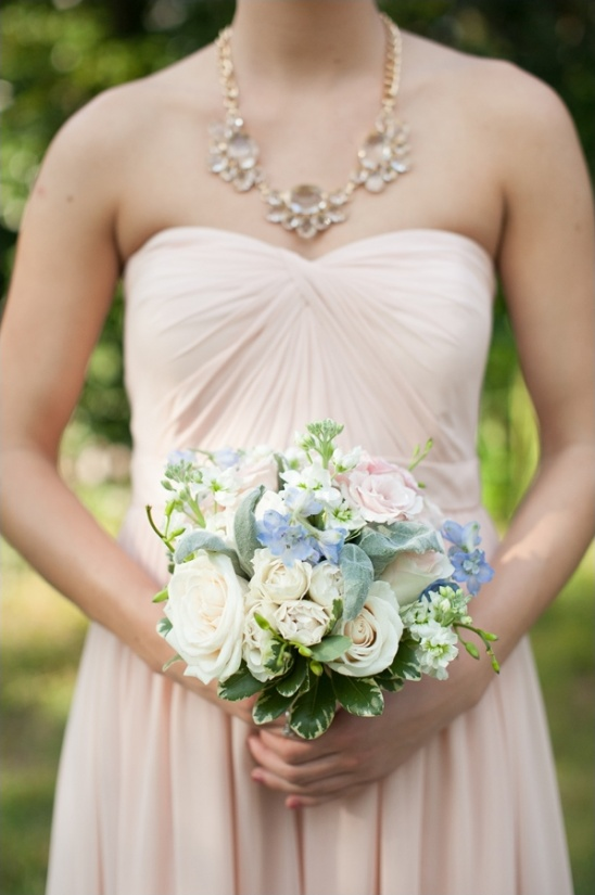 soft blue pink and white bouquet