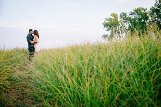 Sculpture Park and Lake Michigan Engagement Session