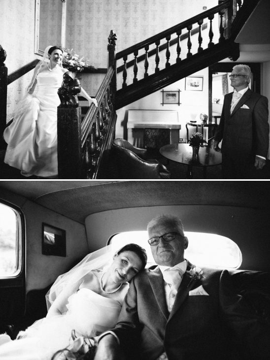 wedding moments between father and daughter