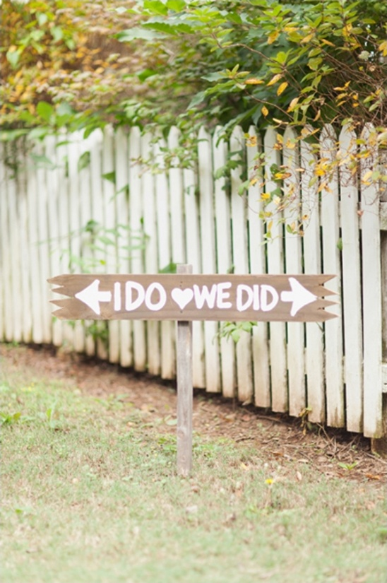 i do we did wedding sign