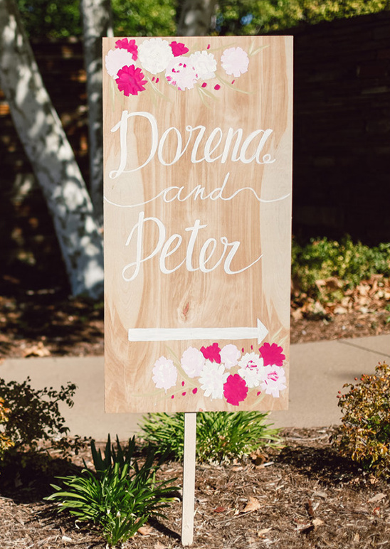 hand painted wedding sign
