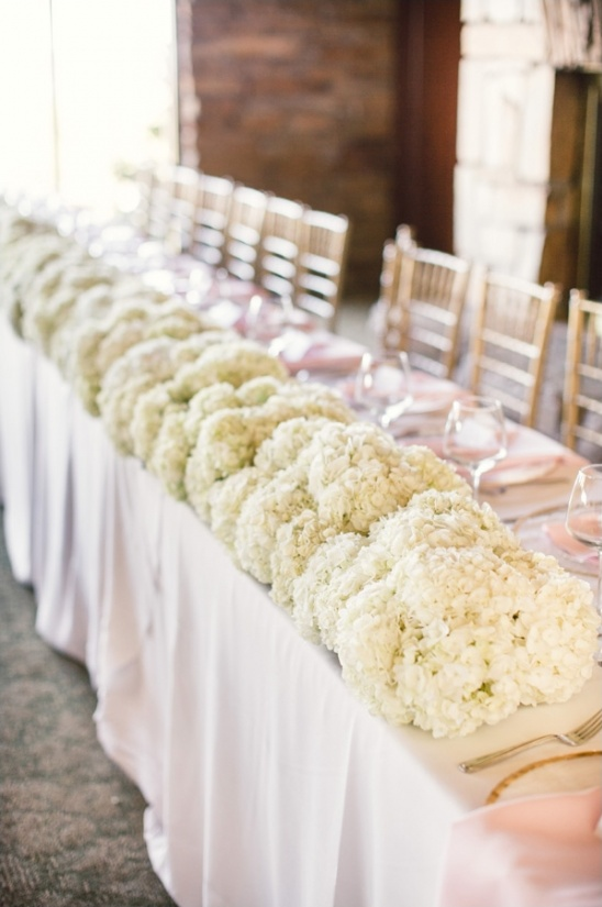 head table for bridal party