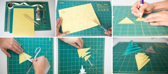 3-D Triangle Backdrop DIY from They So Loved Events