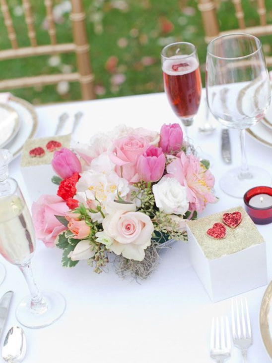 pastel wedding centerpieces