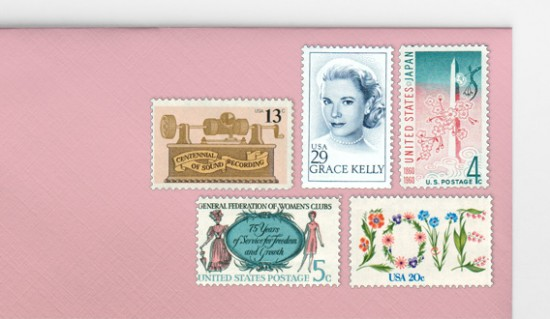 .70 Vintage Postage Sets for Invitations