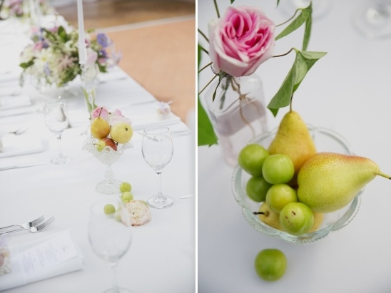 fruit on wedding table
