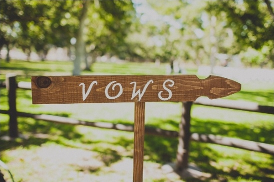 wedding vows sign