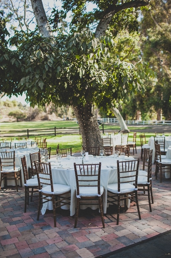 crisp white outdoor reception