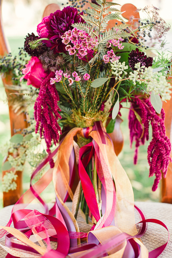 ribbon on bouquet