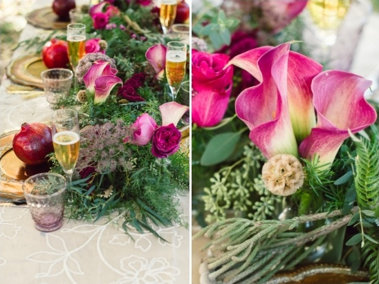 floral garland for table runner