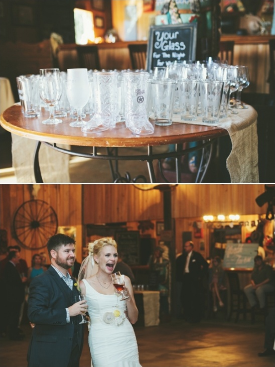 wedding favor beer glasses