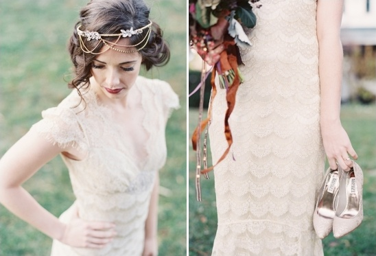 lace wedding dress by Claire Pettibone