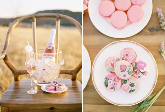 hand painted macaroons