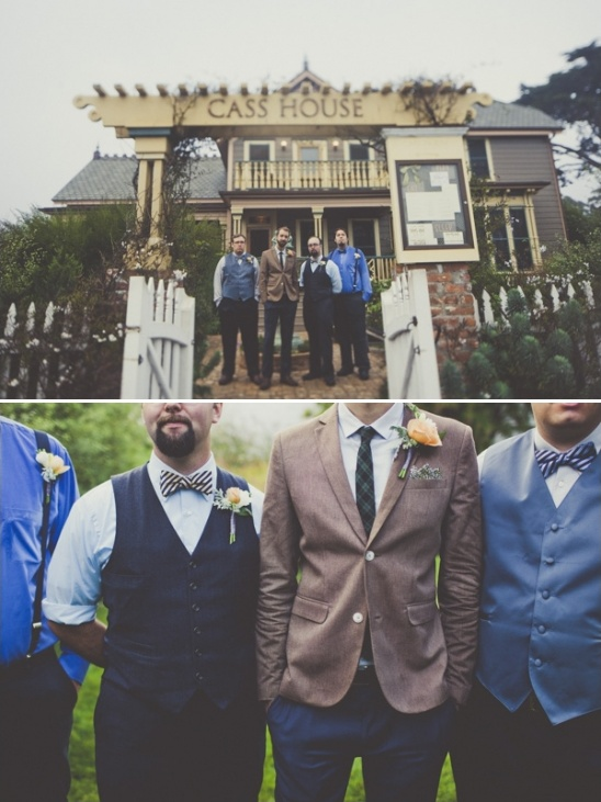 brown and blue groomsman ideas