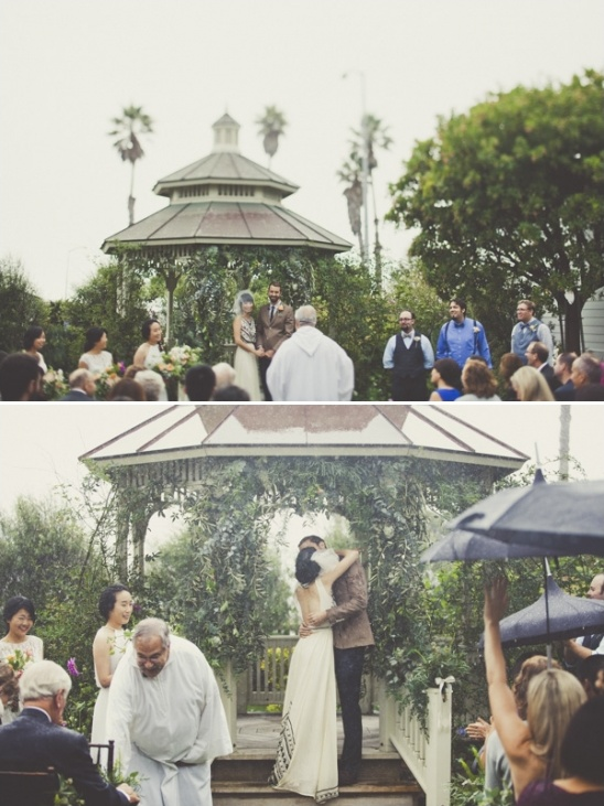 raining outdoor ceremony