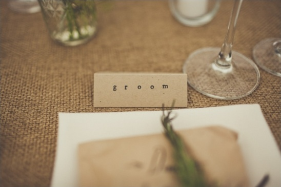 simple printed place cards