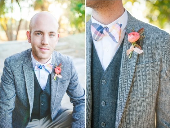 tweed jacket groom look