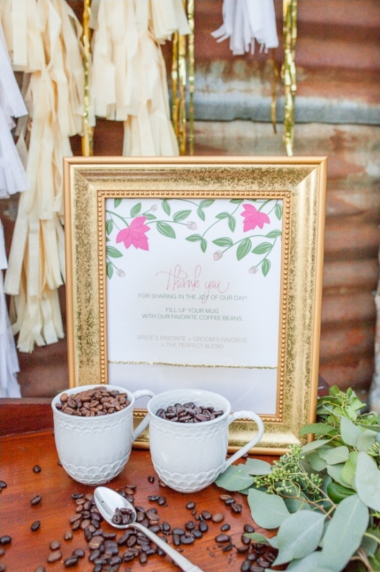 coffee wedding favor idea