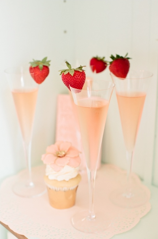 strawberry champagne toast