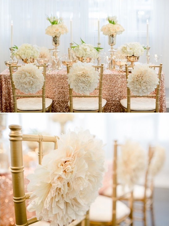 Rose gold wedding decoration for Dekoration rosegold