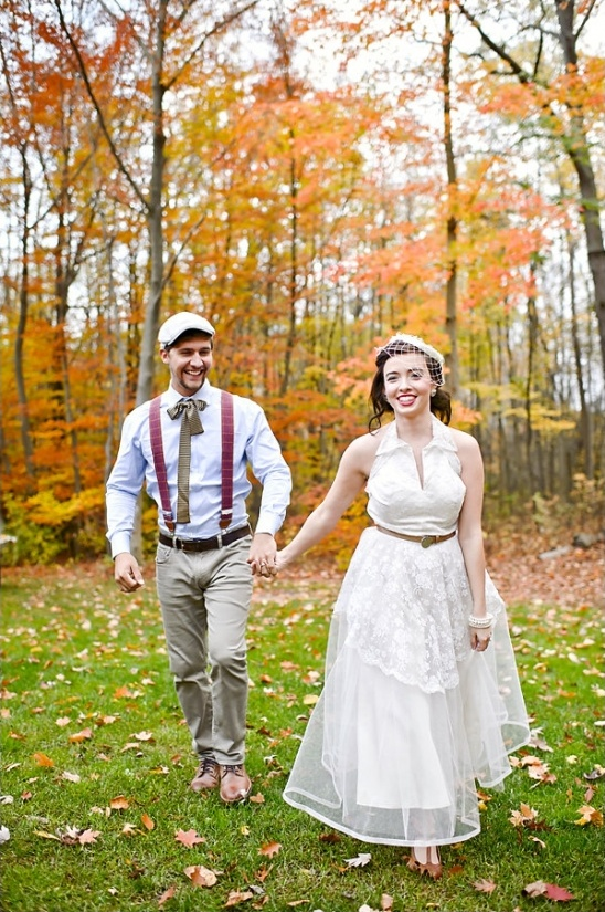vintage bride and groom looks
