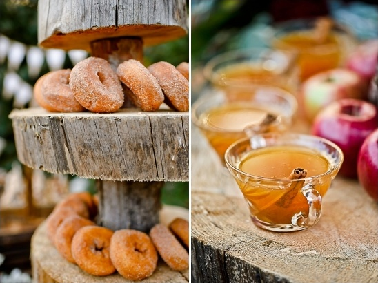 cinnamon donuts and apple cider
