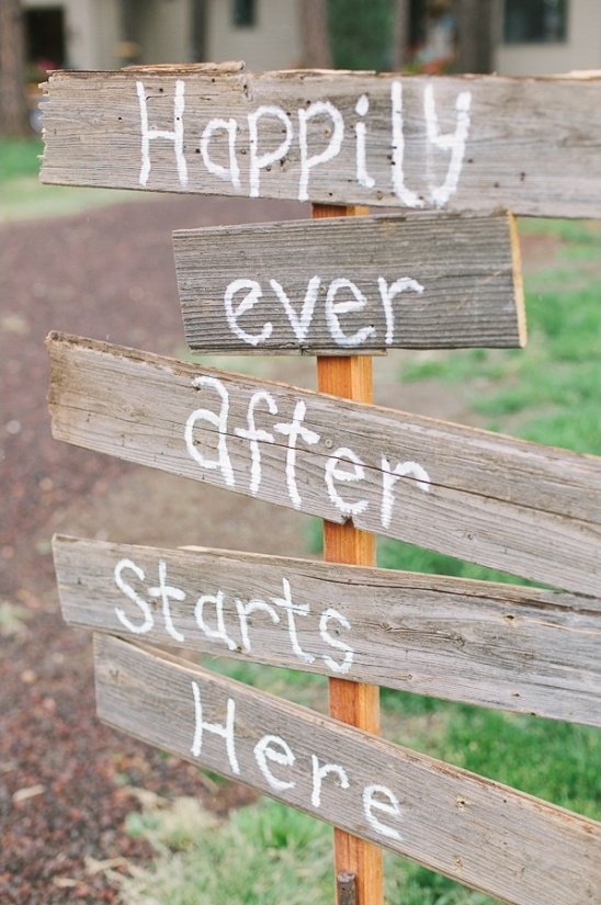 diy happily ever after starts here sign