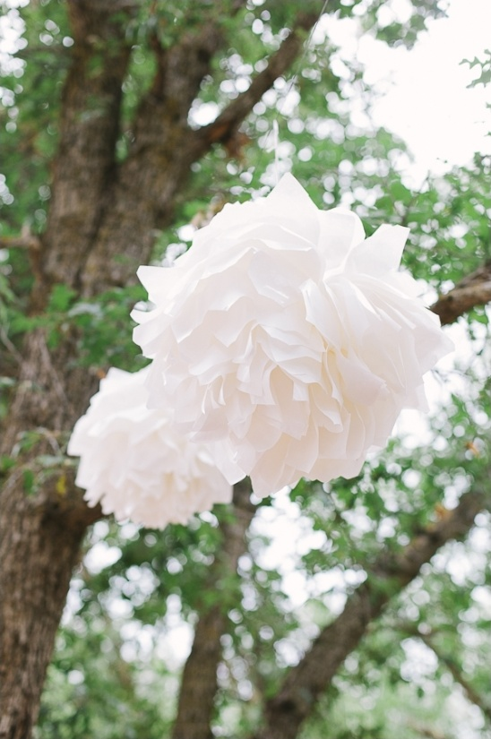 diy wax paper poofs ceremony decor