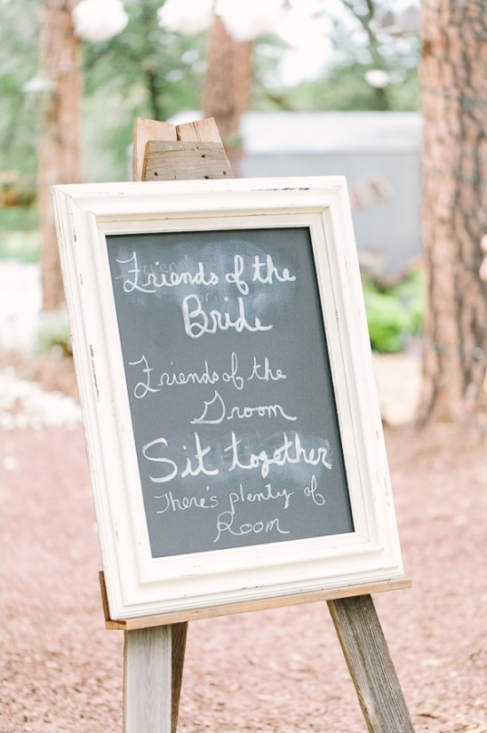 wedding ceremony chalkboard sign