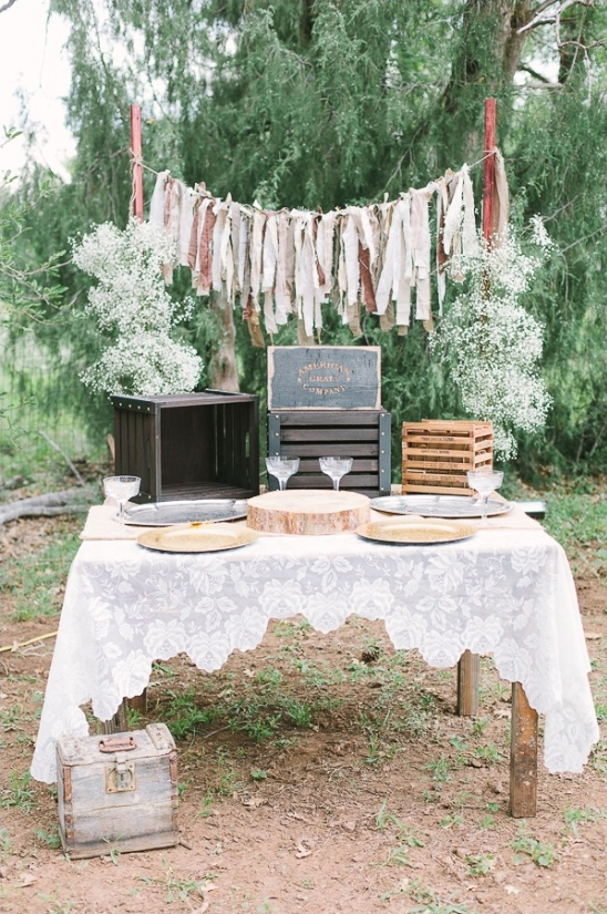 rustic diy dessert table