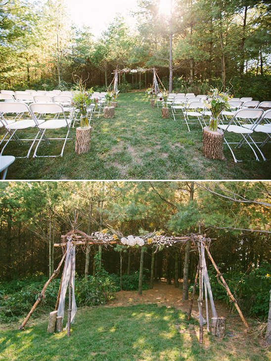 diy wooden ceremony backdrop