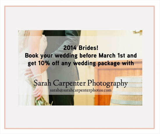 Sarah Carpenter Photography Promotion
