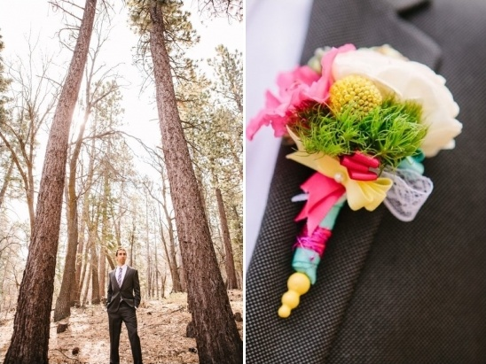whimsical boutonniere