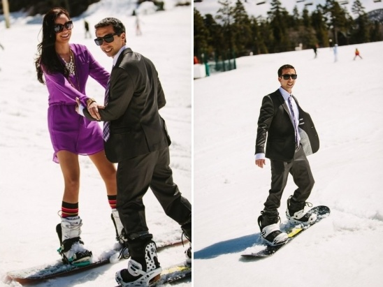 love for snowboarding and love for each other