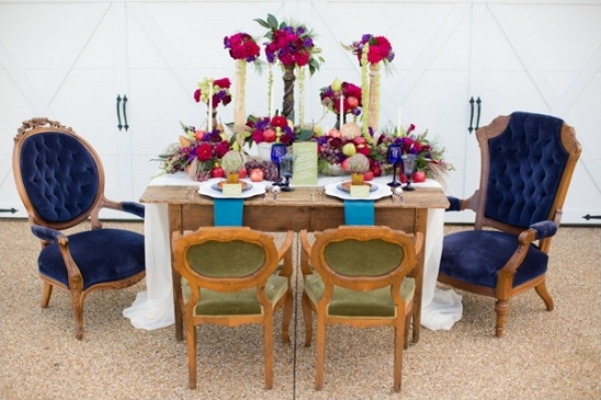 jewel colored tablescape